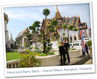 Marla Malcolm Beck and Barry Beck – Grand Palace, Bangkok, Thailand