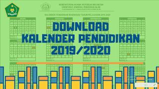 Download Kalender Pendidikan RA / Madrasah 2019/2020 Resmi Dirjen Pendis
