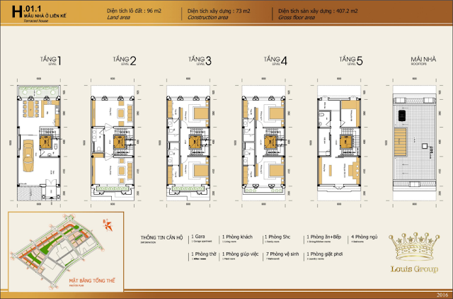 Thiết kế mẫu nhà liền kề 1