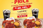 Promo Richeese Factory 2 Combo Duo Fire Chicken Mulai Rp68.182 Periode 29 Januari 2020