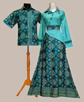 Contoh Model Baju Batik Modern Couple