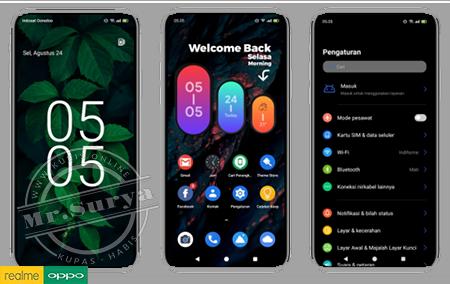 Tema Realme | Tema Oppo: Android 12 Dark Mode Tembus Aplikasi