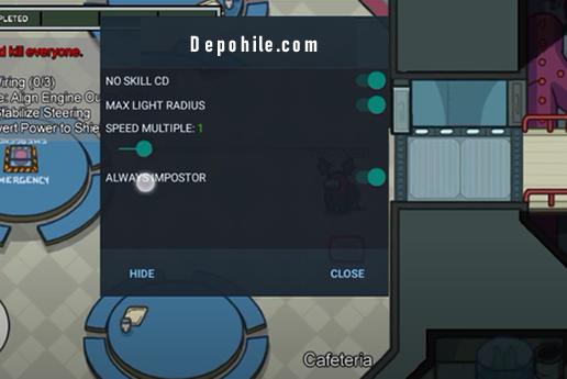 Among Us v2020.9.9 Mobil Impostor, Speed Hile Mod Menu İndir