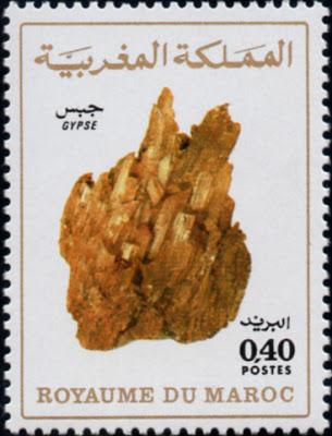 Sello marroquí con un ejemplar de yeso. Perteneciente a la colección filatélica de José Juan Iglesias Pintado