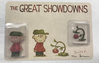 "Gallery 1988 Exclusive The Great Showdowns ""The Little Tree"" Peanuts Charlie Brown Resin Figure Set by Scott C"