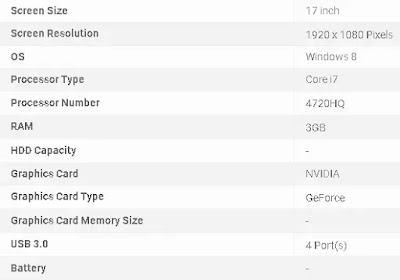 MSI GS70 specification