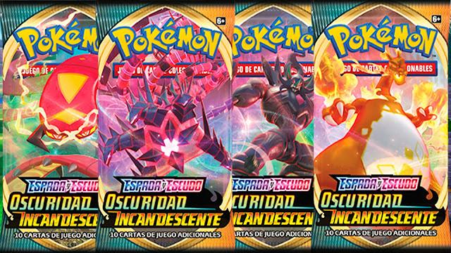 Pokemon-Espada-y-Escudo-Oscuridad-Incandescente Charizard Grimmsnal Centirskoch Eternatus VMAX Gigamax Dinamax