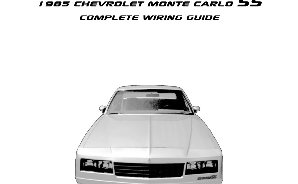1995 Chevrolet Monte Carlo SS Engine Compartment Wiring