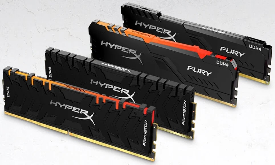 HyperX Releases Predator DDR4 RGB and FURY DDR4 RGB Memory Modules up to 256GB