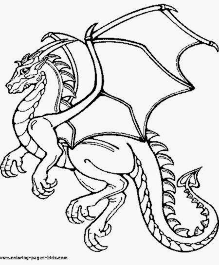 Free Coloring Pictures Pictures Of Dragons To Color