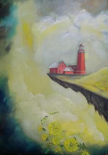 Ayoe art, galleriayoellpløger, art, lighthouse, bovbergfyr, vestcoast, visktdenmark, dandelion, haven, ocean, natur, landscape