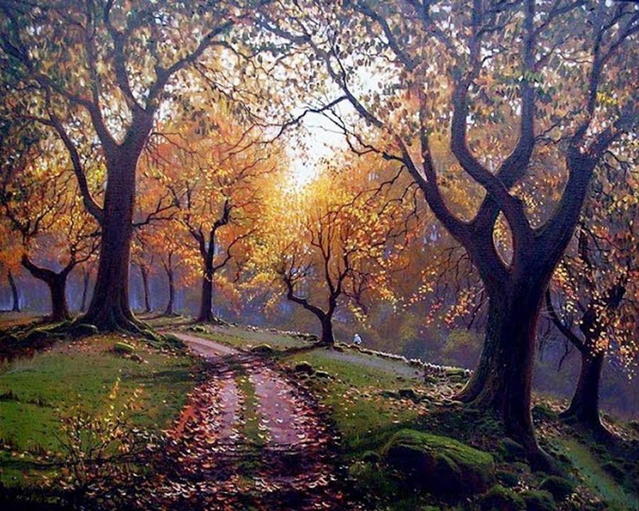 Im genes arte pinturas paisajes rurales espa oles cuadros - Cuadros de casas de campo ...