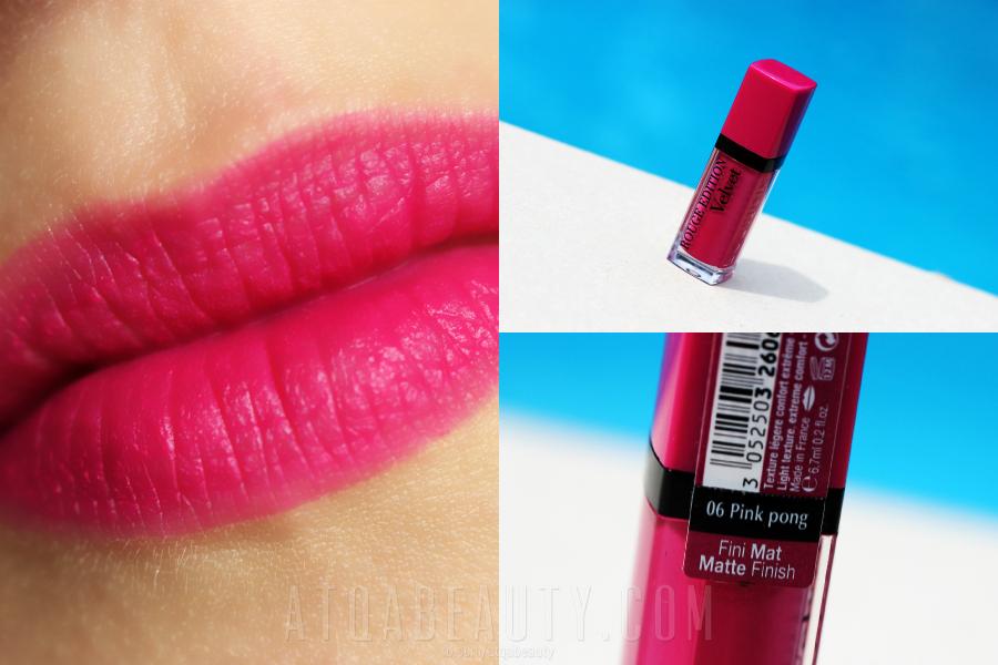 Bourjois • Rouge Edition Velvet • 06 Pink Pong