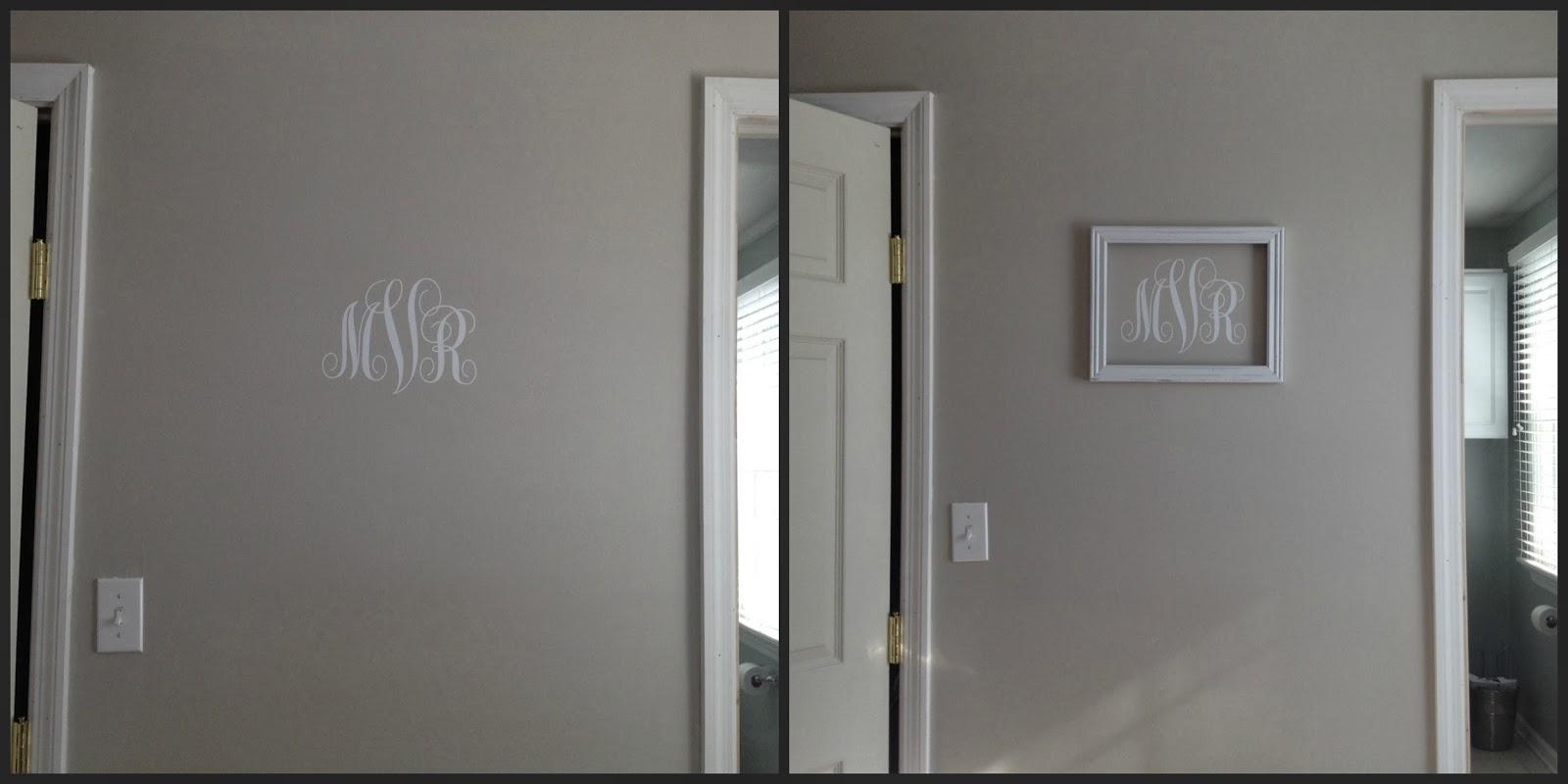 Vinyl, monogram, wall art, Silhouette tutorial, Silhouette Studio