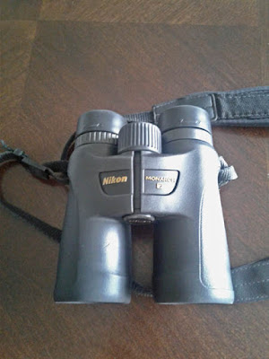 Photo of Greg's new binoculars! Nikon Monarch 7 8x42