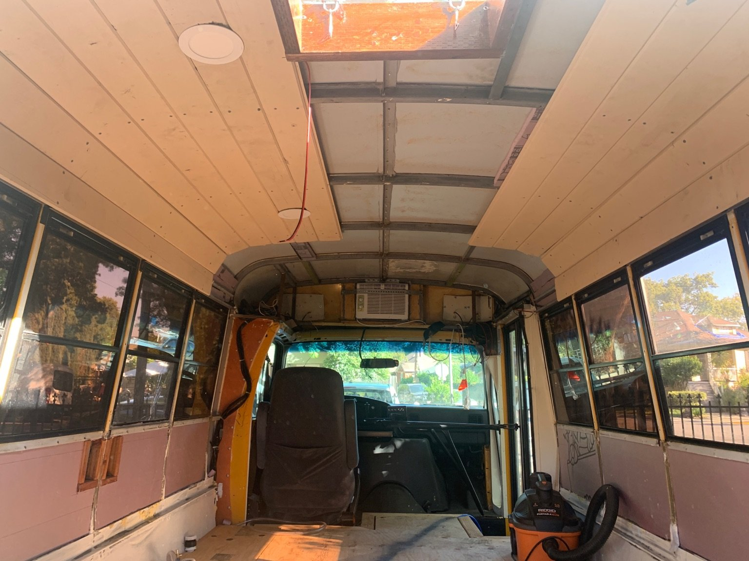 How to Install the Insulation, Walls, and Ceiling in a Skoolie