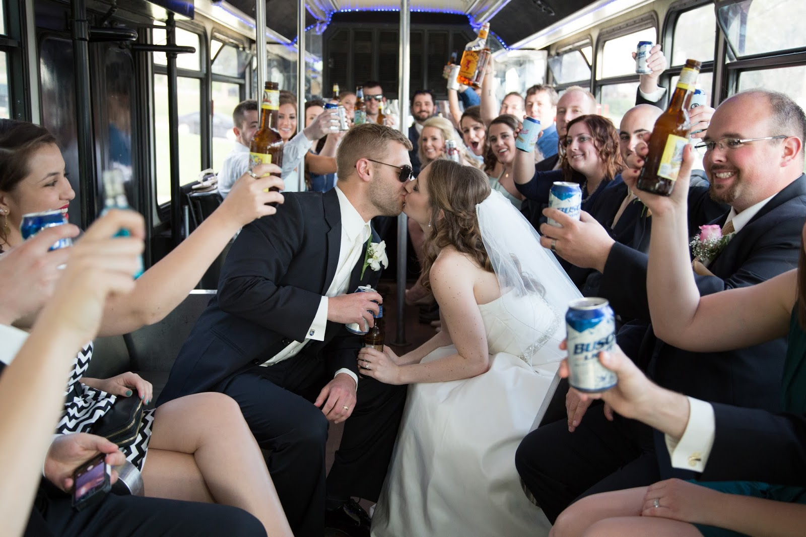 party bus pictures on your wedding day | a memory of us