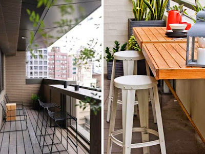 Install A Balcony Bar Or A Table