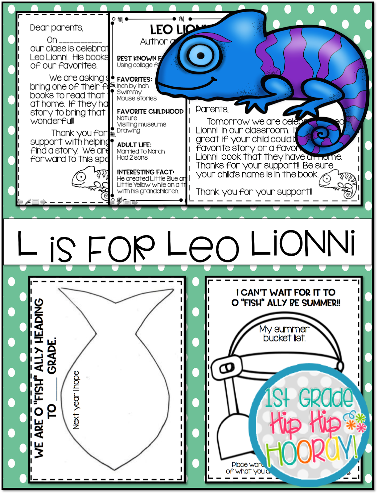 1st Grade Hip Hip Hooray L Is For Lionni Abc Summer