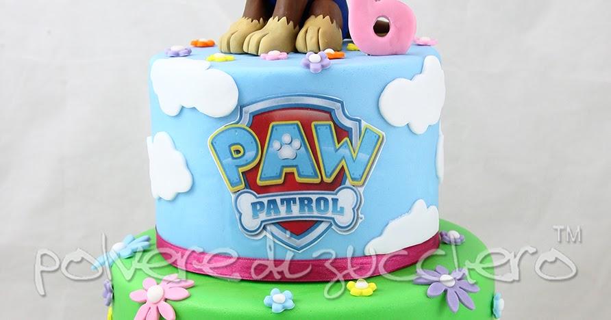 Torta decorata a due piani dei paw patrol con chase in for Design a due piani