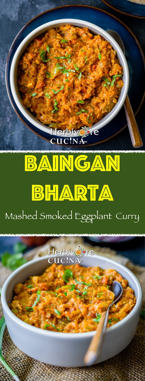 Baingan Bharta | Mashed Smoked Eggplant Curry