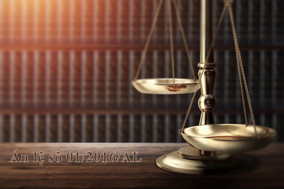 """Nội dung Án lệ 01 (01/2016/AL) nội dung về vụ án """"Giết người"""""""