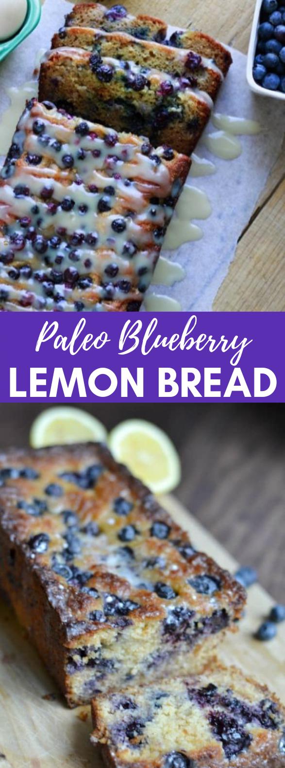 PALEO BLUEBERRY LEMON BREAD #Paleo #Lemon