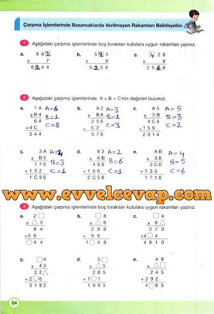 4. Sınıf Yakın Çağ Yayınları Matematik Çalışma Kitabı 64. Sayfa Cevapları