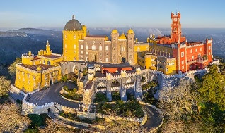 Palacio de Pena en Sintra, Portugal