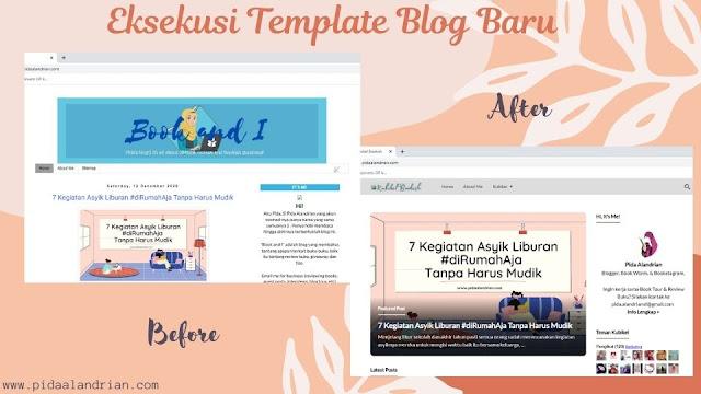 Eksekusi template blog baru