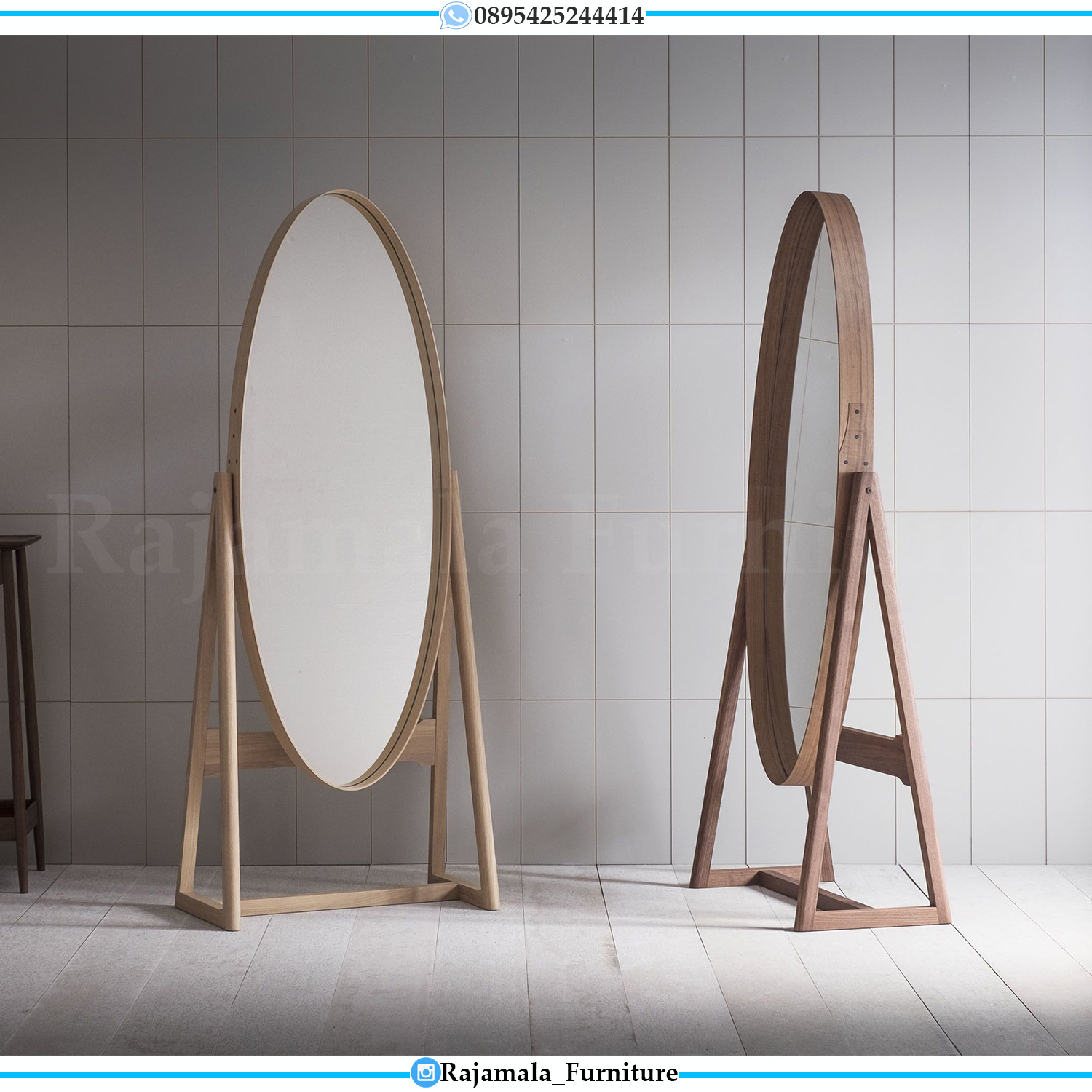 Adorable Design Stand Mirror Minimalis, Cermin Hias Dinding Terbaru Luxury Furniture Jepara RM-0508