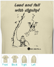 Climbing Shirt - Lead and Fall with Dignity