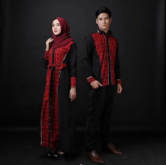 Model Baju Gamis Perpaduan Batik: 57 Model Gamis Batik Modern 2019