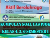 Kumpulan Soal UAS/PAS PJOK Kelas 4, 5 dan 6 dan Kunci Jawaban Semester 1 K13 Terbaru