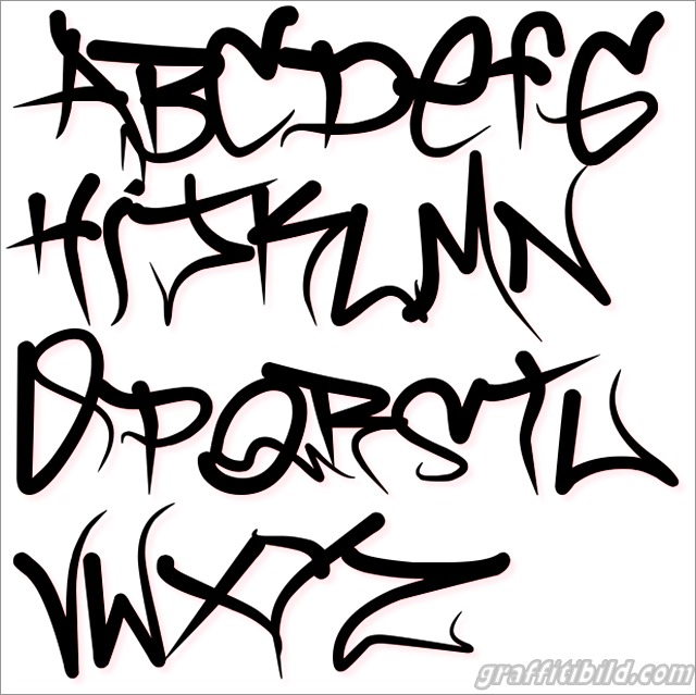 Graffiti schrift abc, graffiti alphabet a-z