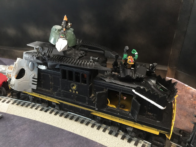 40K Train; 40K Diesel Locomotive; Warhammer Locomotive; Da Pain Train
