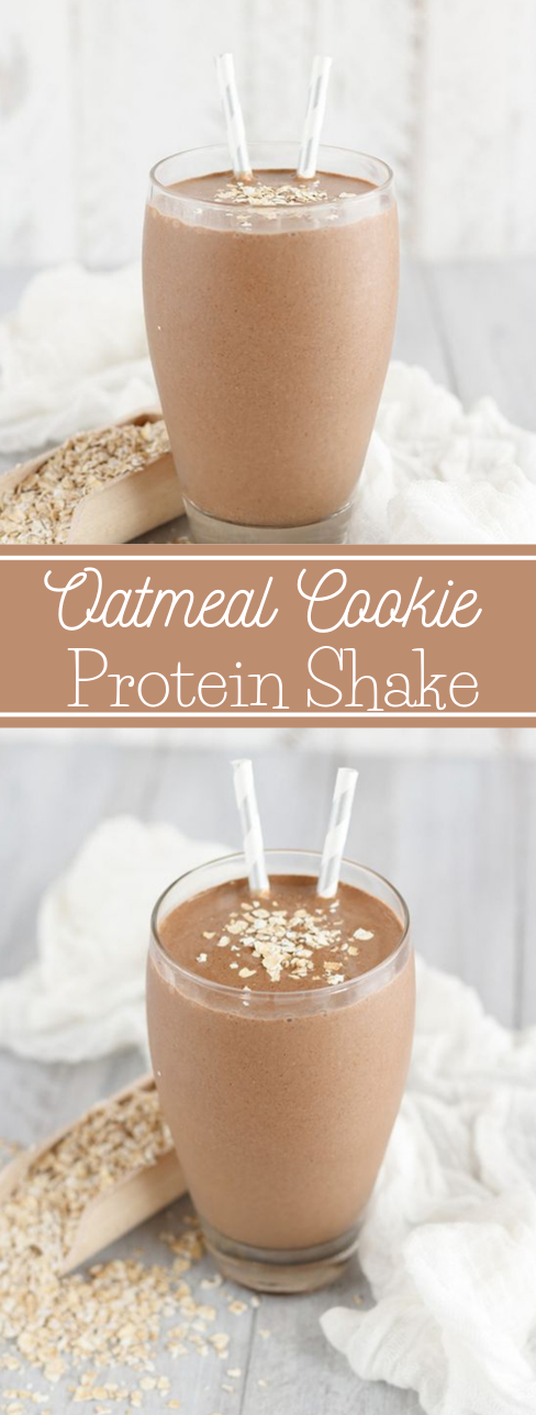 Oatmeal Cookie Protein Shake #drink #healthyrecipes #easy #smoothie #sangria