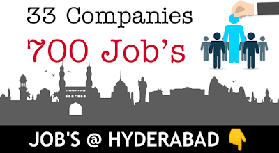 Jobs in Hyderabad for Graduates Fresher's tsdeet.com