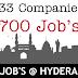 Various Jobs in Hyderabad Apply Now