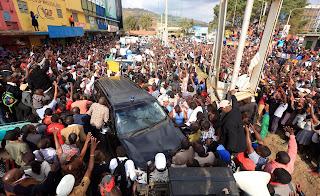 Kalonzo Musyoka road rally at Mlolongo, Machakos. PHOTO | FILE