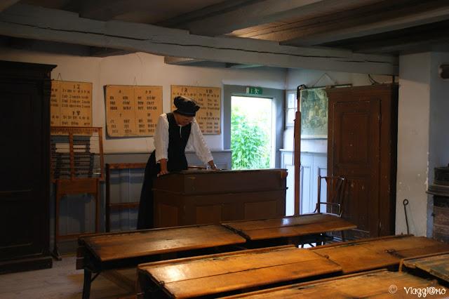 Aula dell'epoca all'Ecomuseo d'Alsazia