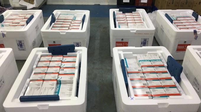 Paraná recebe mais 232.250 vacinas contra a Covid-19; lote completa remessa de 435.290 doses