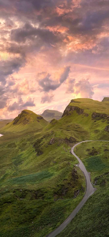 Road on green mountain
