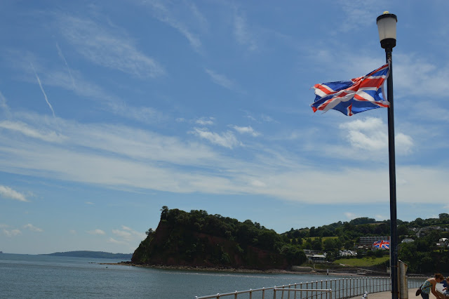 Teignmouth Union Jack in the wind