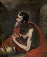 Saint Jerome by baroque painter Jusepe de Ribera, a follower of Caravaggio Merisi, circa 1644