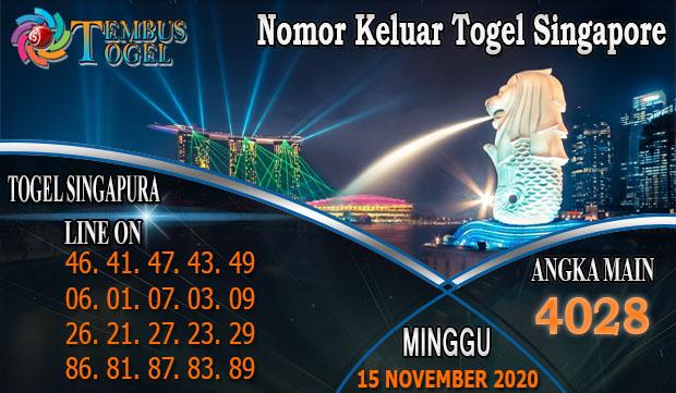 Nomor Keluar Togel Singapore Hari Minggu 15 November 2020