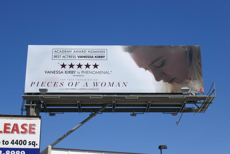 Vanessa Kirby Pieces of a Woman Oscar nominee billboard