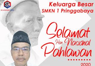 Keluarga Besar SMKN 1 Pringgabaya Mengucapkan Selamat Hari Pahlawan Nasional 10 November 2020