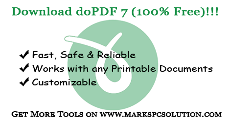 Free Download doPDF 7 (Only 4 MB) !!!