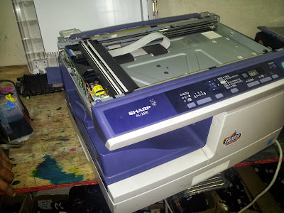 sharp printer on process of reparation